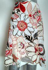 WALLIS casual A-line skirt size 10 floral print 100% Cotton --MINT--