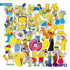 50pcs Simpson Cute Cartoon Mixed Stickers for Mobile Phone Laptop Luggage Guitar