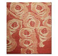 8' x 10' Tibetan Hand Knotted Area Rug Carpet Modern Wool & Silk Red New 8x10