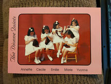 Dionne Quintuplets Large Postcard, the Girls Knitting