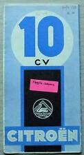CITROEN 10 CV voiture sales brochure 1933 texte français #AC 2476