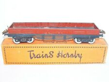 Hornby Meccano France O Gauge 4-Axed GOODS VAN WAGON Tin Plated Nice! Boxed`50