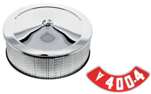 14 x 5 Chrome Air Cleaner Assembly With 40-4BBL Decal Firebird GTO Grand Prix