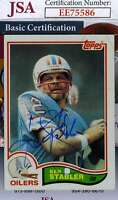 Ken Stabler 1982 Topps Jsa Coa Hand Signed Authentic Autograph