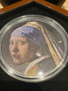 GIRL WITH PEARL EARRING PALAU 2019 GREAT MICROMOSAIC PASSION 3 OZ 20 Dollars