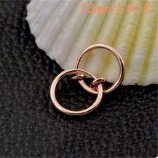 2x Fake Clip On Spring Nose Hoop Ring Ear Septum Lip Eyebrow Earrings Piercing