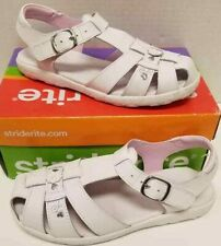 Kids Girls Stride Rite Summer White Size US 7W Sandals NIB
