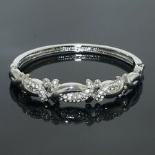VH700 Clear Austrian Crystal 18K WGP Bangle Fashion Party Gift