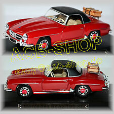 Mercedes Benz 190 SL TYPE:W121 Cabriolet Closed 1955-63 Red 1:43