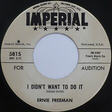 ERNIE FREEMAN: WHAT AM I LIVING FOR rare IMPERIAL 45 VG+ R&B BLUES