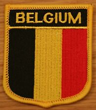 BELGIUM Shield Country Flag Embroidered PATCH Badge P1