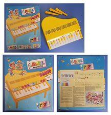 PIANOFORTE A CODA vintage, piano 12 tasti Avril Bontempi, metodo 7 note 7 colori