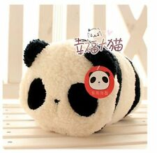 NWT Korean Plush Panda Cylinder Fashion Baguette Hobo Handbag Super Soft Cute