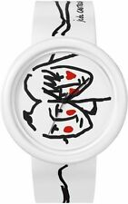 O.D.M. JC04-02 Time Gallery (Chic to Cheek) Unisex White Watch