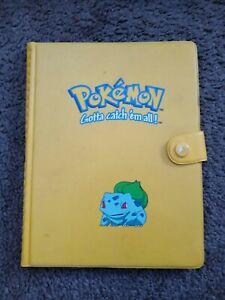 Vintage pokemon yellow bulbasaur 4 pocket card album - rare used good condition
