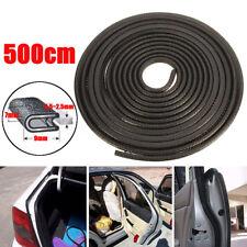 5M U-shape Black Car Door Edge Trim Rubber Seal Protector Guard Strip Protector