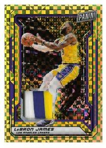 2019 Panini National VIP Gold Pack Lebron James Gold Refractor Patch #d 5/5