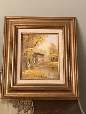 Robert Moore Signed Oil Painting on Board Framed - Mint!!