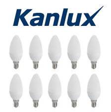 10x Kanlux 4.5W SMD LED 35W Equivalent SES E14 Opal Candle Light Bulb Warm White