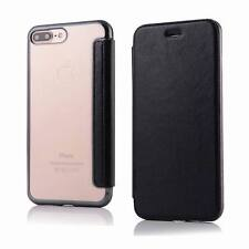 For iPhone X 8 6s 7 Plus Luxury Slim Leather +TPU Wallet Flip Cover Skin Case