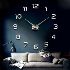 Diy Clock Wall Clocks 3D Acrylic Mirror Stickers Decoration Living Room Quartz