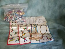Bead Mix lot with instructions to make figures and puppets ☆