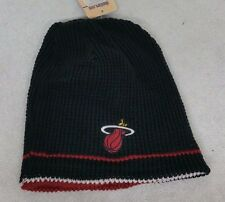 MIAMI HEAT NBA REVERSIBLE BLACK/RED WINTER KNIT FITTED BEANIE HAT SKULLY CAP NWT