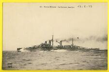 cpa Brest MARINE MILITAIRE Bateau NAVIRE GUERRE French Navy Cuirassé JEAN BART