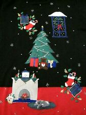 Ugly Christmas Holiday Sweater Nutcracker XL Tree Dog Fireplace