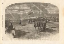 "1861 ANTIQUE PRINT-DERBY DAY,VIEW FROM NEAR ""THE CORNER"" LOOKING TOWARDS PADDOCK"