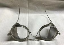 Vintage King's Folding Safety Goggles Glasses Wire Mesh Steampunk Marked Frames