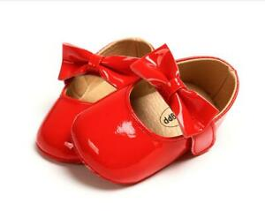 Gift Newborn Baby Girl Crib Shoes Patent Leather Mary Janes Infant Shoes 0-18 M