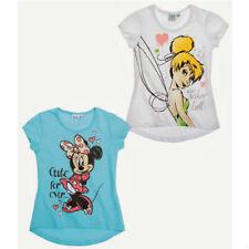 DISNEY lot de 2 t-shirts LA FEE CLOCHETTE et MINNIE taille 2 ans blanc bleu