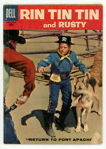 JERRY WEIST ESTATE: RIN TIN TIN AND RUSTY #25 (VG) & 29 (Dell 1958-59)
