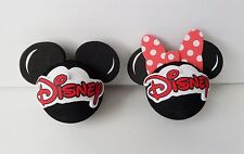 Disney Mickey Mouse & Minnie Mouse Head Antenna Toppers Lot of 2