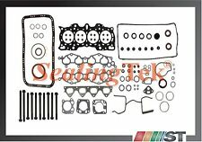 Fit 90-01 Honda Acura B18A1 B18B1 1.8L Engine Full Gasket Set w/ Head Bolts Kit