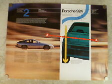 1980 Porsche 924 Customer Orientation #2 Showroom Advertising Poster RARE!! L@@K