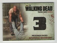 The Walking Dead Season 3 Part 1 Wardrobe Card M14 Prisoner Shoes Free Ship