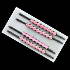 4 Pinces à cheveux épingles strass - rose - 6cm -  Pink diamanté hairgrips