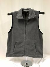 Harriton Men's Midweight Full Zip Front Pockets Fleece Vest Charcoal Size Small