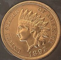 1893 INDIAN HEAD PENNY 4  DIAMONDS  ***NICE  PENNY***Cleaned