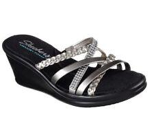 39ee3ff0eb68 Skechers Cali Wild Child Women US 8 Silver Wedge SandalPre Owned UK 5 3721