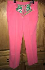 """LILLY PULITZER Pink Cotton Corduroy """"Phipps"""" Flat Front Pants Size 32 X 30"""