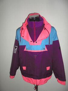 DEGRE7 Skijacke Recco Schlupfjacke neon 90er Blouson ski oldschool 90s anorak L