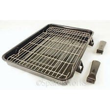 Diplomat Extra Large Vitreous Enamel Grill Pan & Detachable Handles 420x300mm