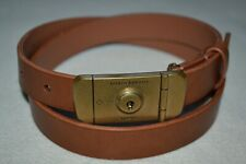 "Dunhill Duke Lock Pin Buckle Belt Tan 32"" Brand New"