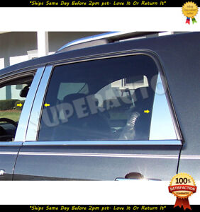 For 2007-2016 GMC Acadia Polished Stainless Door Pillar Post Trims Shiny Looks
