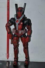 HASBRO Marvel Epic Heroes Legends Deadpool Red Variant figure 99% COMPLETE