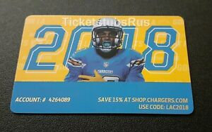 2018 NFL LA CHARGERS Full Season Ticket Card PATRICK MAHOMES 1st TOUCHDOWN PASS