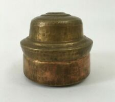 Indian Old Vintage Hand Carved Unique Brass Bread Chapati Box